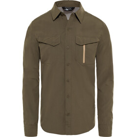 The North Face Sequoia L/S Shirt Men new taupe green